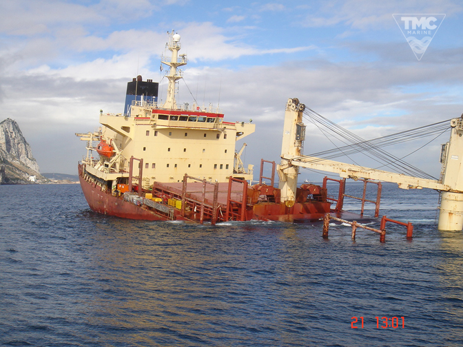 NEW FLAME – Gibraltar – August 2007-Wreck removal-1