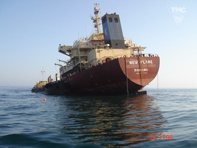 NEW FLAME – Gibraltar – August 2007-Wreck removal-10