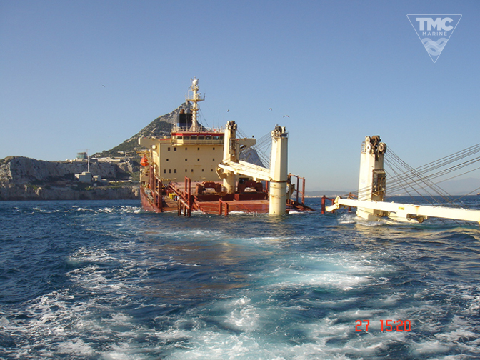 NEW FLAME – Gibraltar – August 2007-Wreck removal-5