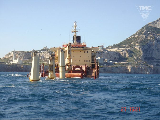 NEW FLAME – Gibraltar – August 2007-Wreck removal-6