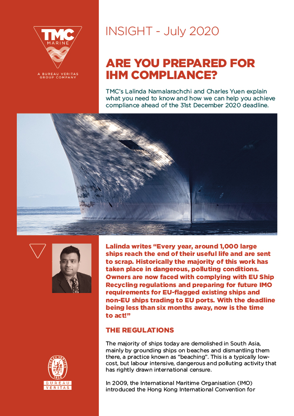 Are you prepared for IHM compliance?